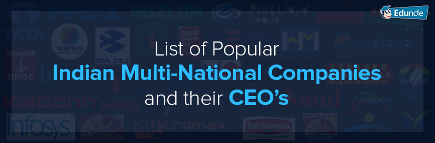 List-of-Popular-Indian-Multi-National-Companies-and-their-CEO's