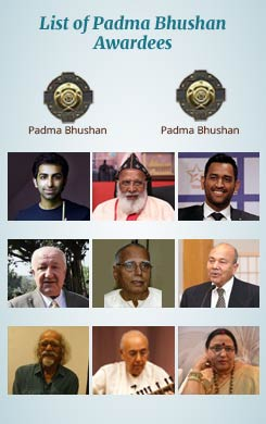 List of Padma Bhushan Award Winners