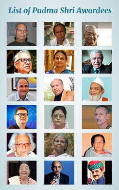 List of Padma Shri Award Winners