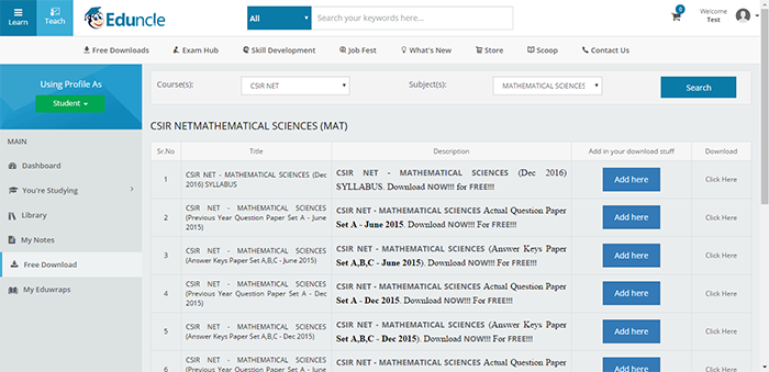 CSIR NET Online Books and Study Material