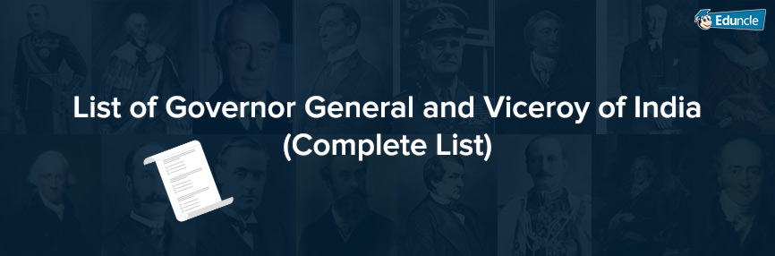 List of Governor-General and Viceroy of India