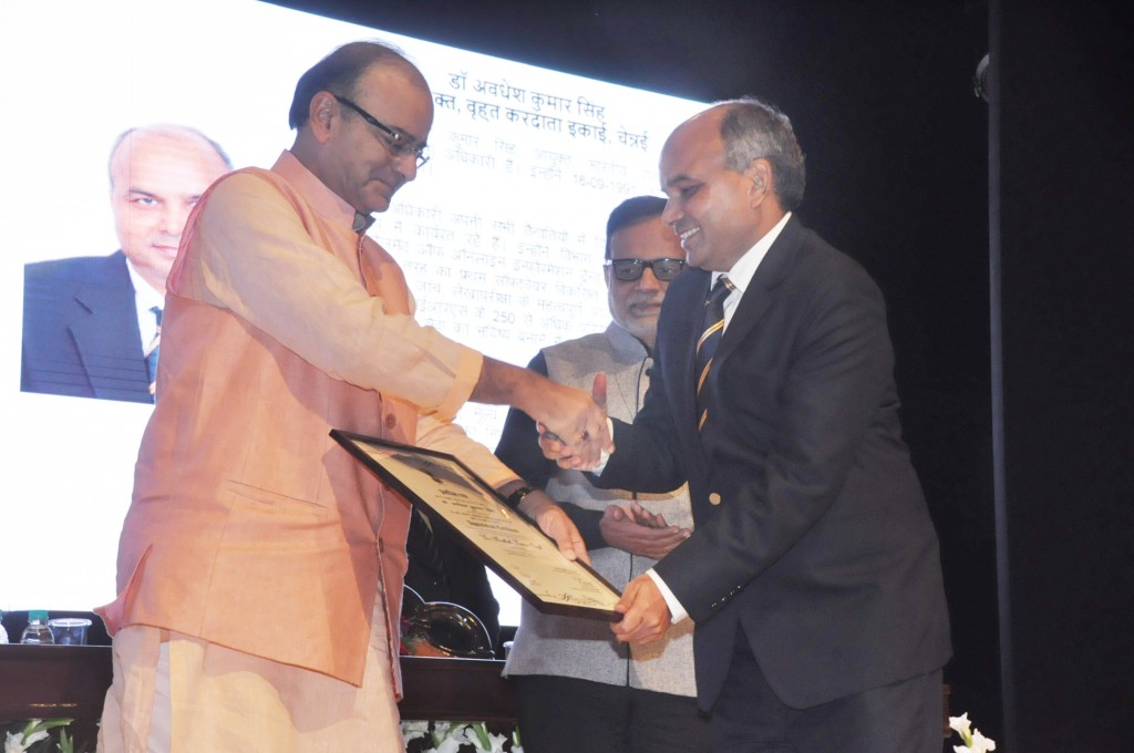 Dr. Awdhesh singh recieving Presidential Award