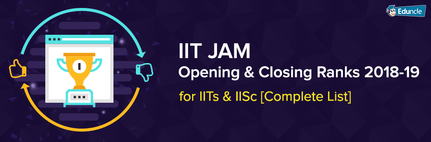 IIT JAM Opening and Closing Ranks 2018
