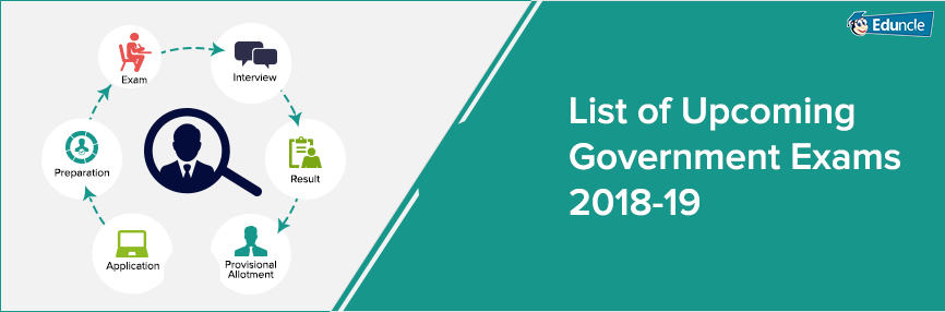 Upcoming Government Exams 2018 19 for Bank, Railway & SSC Jobs