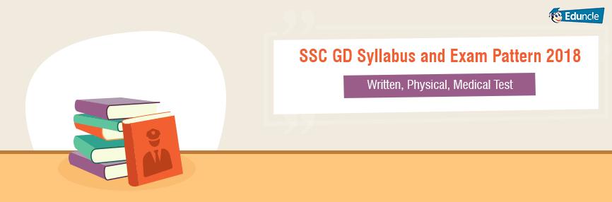 SSC GD Syllabus and Exam Pattern 2018