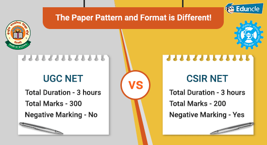 UGC NET vs CSIR NET The Paper Pattern and Format is Different