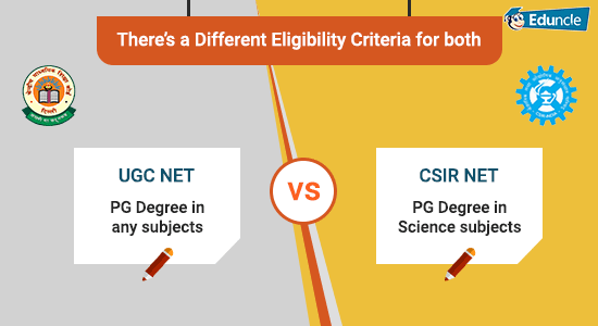 UGC NET vs CSIR NET There's a Different Eligibility Criteria for both