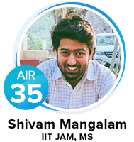 Shivam-Mangalam IIT JAM Qualified Candidate from Eduncle