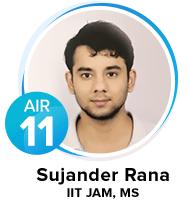 Sujander-Rana IIT JAM Topper 2018