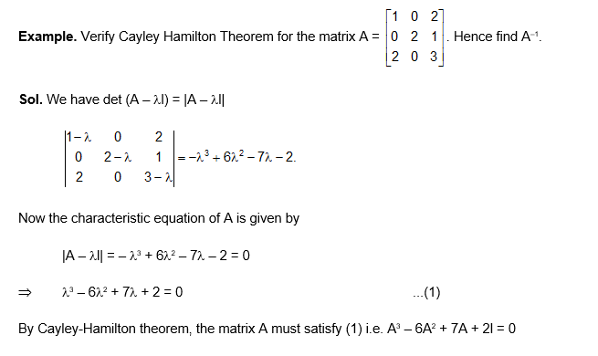 Cayley Hamilton Theorem example 1