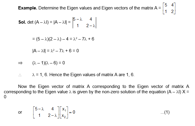Example eigen value