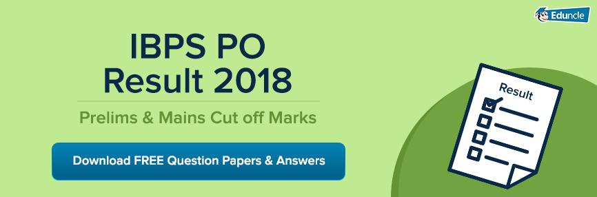 IBPS PO Result 2018