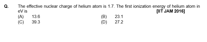 periodic table JAM previous question 3