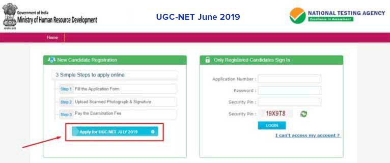 UGC-NET-2018-Apply-Online-Step-1