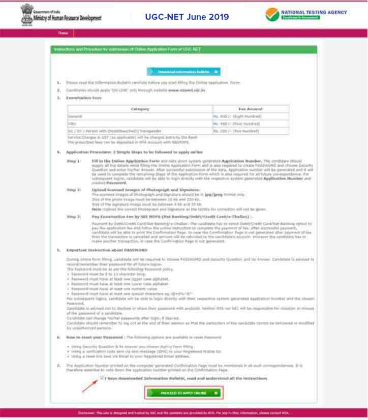 UGC-NET-2018-Apply-Online-Step-2