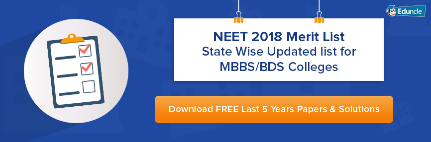 NEET 2018 Merit List