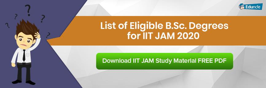 List of Eligible B.Sc. Degrees