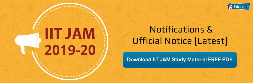 IIT JAM Latest Notification & News