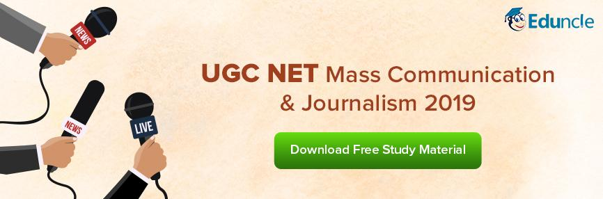 UGC NET Mass Communication and Journalism