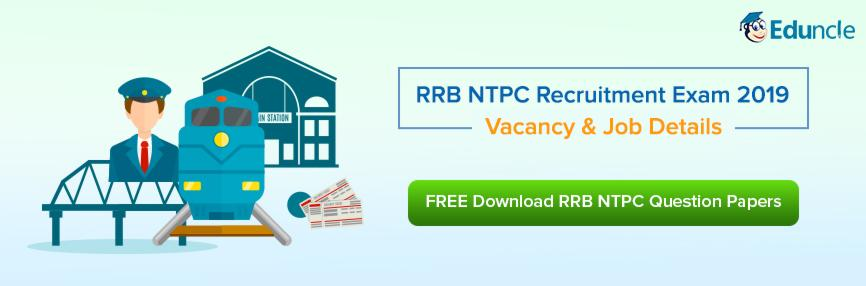 RRB NTPC Recruitment 2019