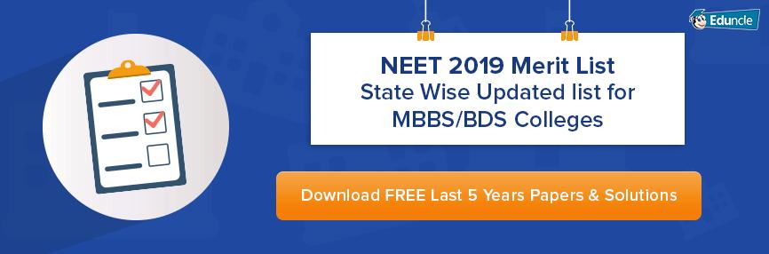 NEET 2019 Merit List