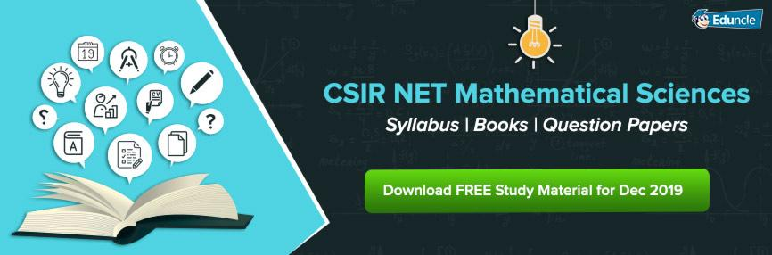 CSIR NET Mathematical Sciences – Syllabus | Books | Question