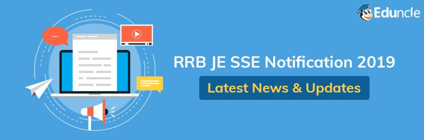 RRB JE SSE Notification 2019