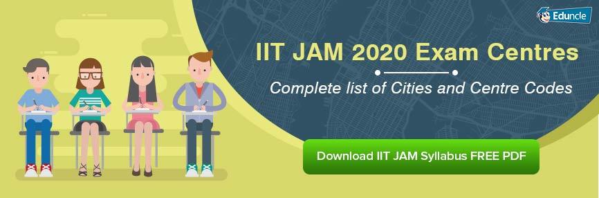 IIT JAM Exam Centres 2020 – Complete list of Cities and