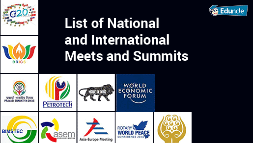 List of National and International Meets and Summits