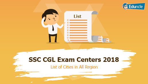 SSC Exam Centers 2018-19 - List of Cities in All Region